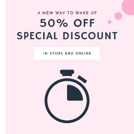 Online Editable Special Discount in Store and Online Countdown GIF Post