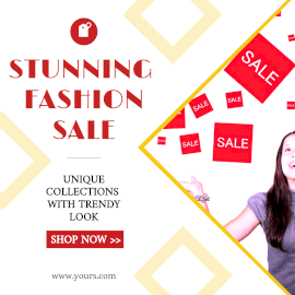 Online Editable Women's Stunning Fashion Sale GIF Post