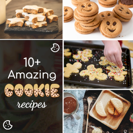 Online Editable Sugar Cookie Recipe 4 Grid Photo Collage