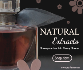 Online Editable Natural Perfume Sale Facebook Post