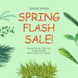 Online Editable Spring Sale Ad Design Instagram Ad