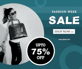 Online Editable Fashion Week Sale Facebook Post
