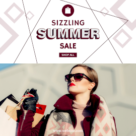 Online Editable Sizzling Summer Sale Instagram Post