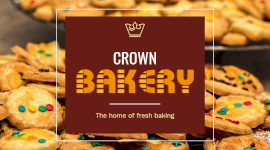 Online Editable Crown Bakery Promotion Facebook App Ad