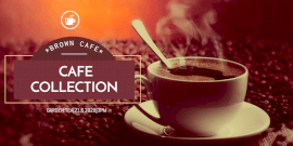 Online Editable Cafe Outlet Twitter Post