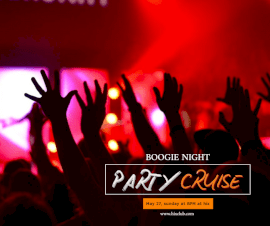 Online Editable Night Party Cruise Facebook Post