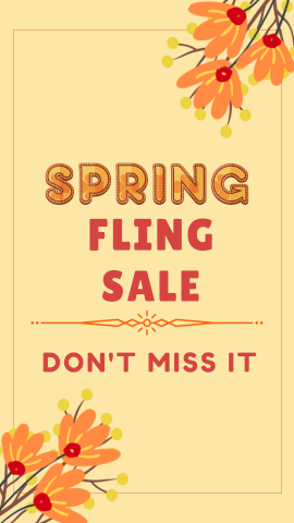 Spring Sale Don't Miss It - Instagram Stories