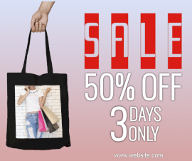 Online Editable Pink Sale Offers Photo Mockup