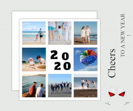 Online Editable New Year Photo Collage Design Facebook Post