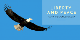 Online Editable Liberty And Peace Independence Day Twitter Post