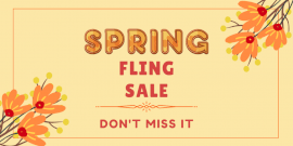 Online Editable Special Spring Sale Twitter Post