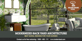 Online Editable Backyard Design Twitter Post