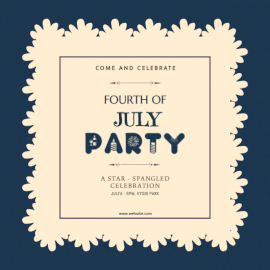 Online Editable Fourth Of July Party Invitation