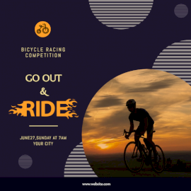 Online Editable Bicycle Racing Competition Invitation