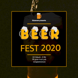 Online Editable Beer Fest 2020 Invitation