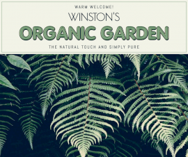 Online Editable Organic Garden Facebook Post