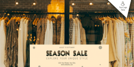 Online Editable Season Sale Twitter Post