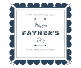 Online Editable Father's Day Facebook Post
