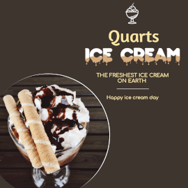 Online Editable Ice Cream Day Promotion Instagram Ad