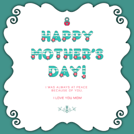 Online Editable Dark Cyan Mothers Day Wishes and Quotes GIF Post
