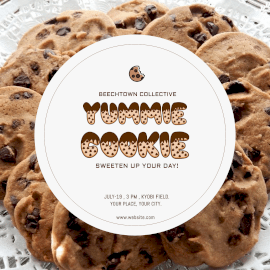 Online Editable Cookie Carnival Instagram Ad