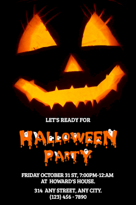 HALLOWEEEN PARTY - Pinterest Graphic