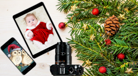 Online Editable Merry Christmas Themed Photo Mockup