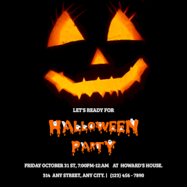 Online editable Halloween party Invitation