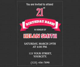 Online Editable Birthday Party Invite Facebook Post