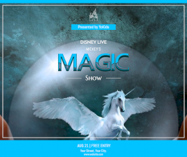 Online Editable Magic Show Facebook Post