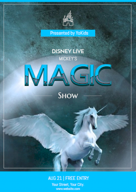 Online Editable Magic Show for Kids Poster