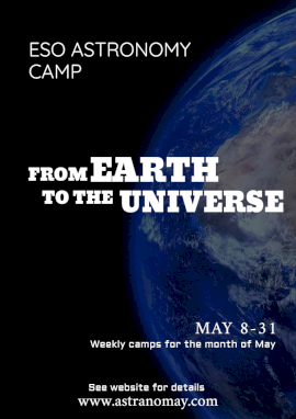 Online Editable Astronomy Science Camp Flyer