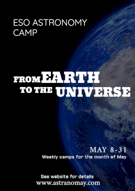 Online Editable Astronomy Science Camp Poster