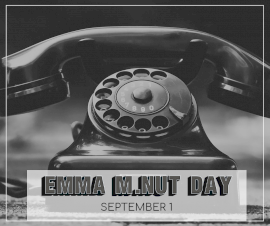 Online Editable Emma M.NUT DAY September 1 Facebook Post