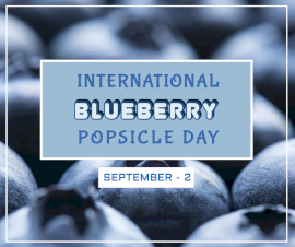 Online Editable National Blueberry Popsicle Day September 2 Facebook Post
