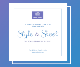 Online Editable Stylish Photoshoot Facebook Post