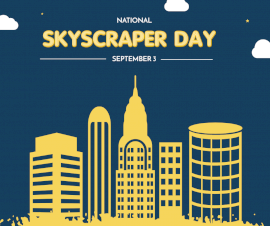 Online Editable Skyscraper Day September 3 Facebook Post