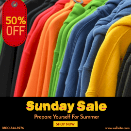 Online Editable Sunday Sale Instagram Ad