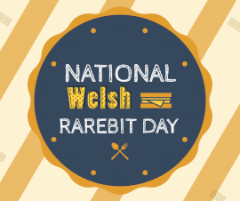 Online Editable Welsh Rarebit Day September 3 Facebook Post