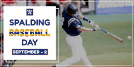 Online Editable Spalding Baseball Day Twitter Post