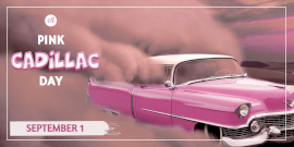 Online Editable Pink Cadillac Day Twitter Post