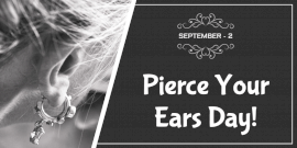 Online Editable Pierce Your Ears Day Twitter Post