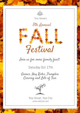 Online Editable Fall Festival Events Flyer