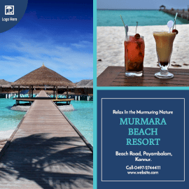 Online Editable Beach Resort Promotion Instagram Ad