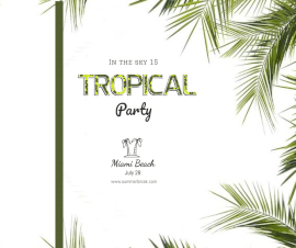 Online Editable Fancy Font Tropical Party Facebook Post