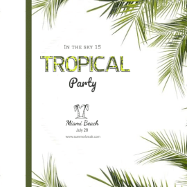 Online Editable Tropical Party Invitation
