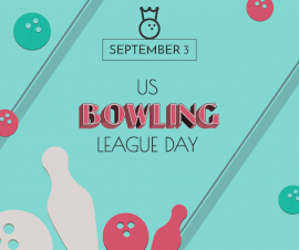 Online Editable US Bowling League Day September 3 Facebook Post