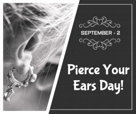 Online Editable Pierce Your Ears Day September 2 Facebook Post