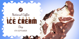 Online Editable National Coffee Ice Cream Day Twitter Post