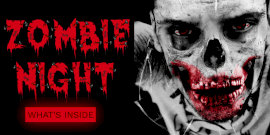 Online Editable Zombie Night Twitter Post